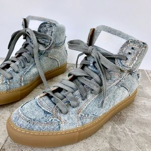 MM6 Maison Margiela Denim Patchwork Sneaker